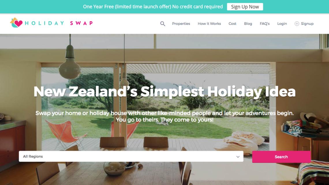Holiday Swap Website Screenshot