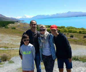 Mel on holiday with her family in Mt Cook.