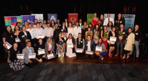 Graduates of Te Whare Hukahuka's youth governance programme, 'Ka Eke Poutama'