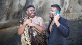 Travis and Shay of Te Whare Hukahuka