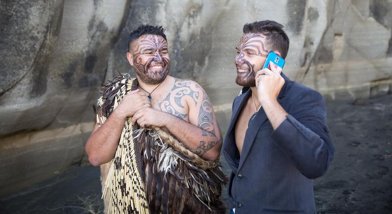 Travis and Shay of Te Whare Hukahuka